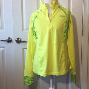 Fila Sport Neon Running Jacket Half Zip Pullover